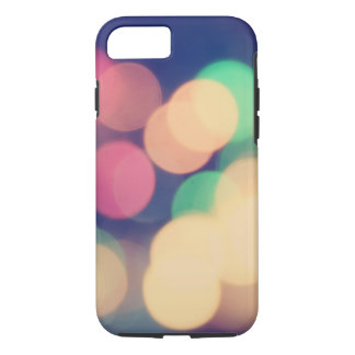 Colorful bokeh lights illustration iPhone 7 case