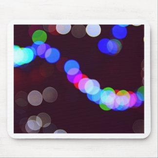 Colorful bokeh lights mouse pad