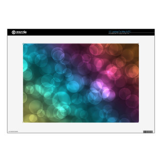 """Colorful Bokeh Picture Decals For 15"""" Laptops"""