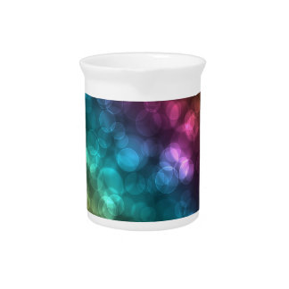 Colorful Bokeh Picture Drink Pitchers