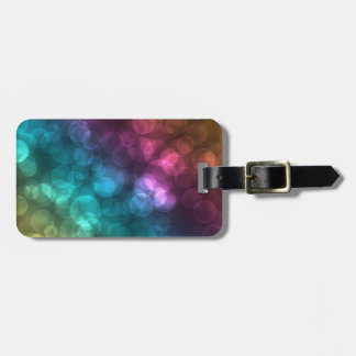 Colorful Bokeh Picture Luggage Tag