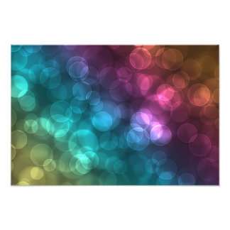 Colorful Bokeh Picture Photographic Print