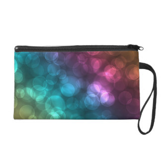 Colorful Bokeh Picture Wristlets