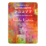 Colorful Bold Abstract Painting Bachelorette Party Card