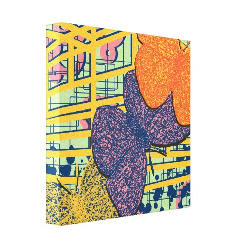Colorful Bold Bright Abstract Maximalist Butterfly Canvas Print