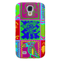Colorful Bold Funky Animals Patchwork Pattern Samsung Galaxy S4 Cover