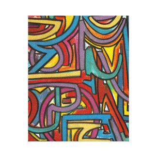 Colorful Bold Geometric Abstract Modern Art Canvas Print