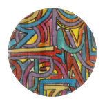 Colorful Bold Geometric Abstract Modern Art Cutting Board