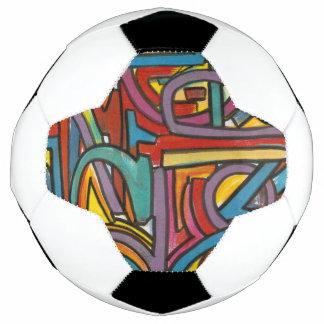 Colorful Bold Geometric Abstract Modern Art Soccer Ball