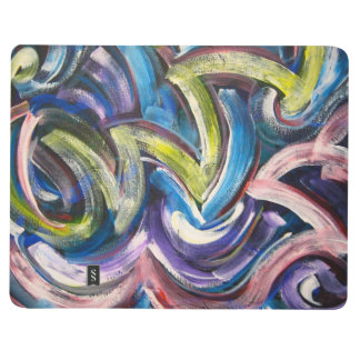 Colorful Bold Handpainted Brushstrokes-Abstract Journal