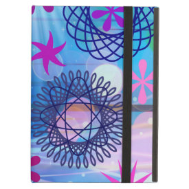 Colorful Bold Stars and Light Rays Funky Design iPad Cases