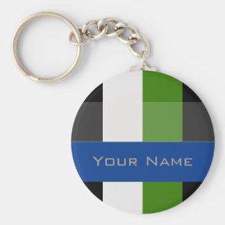 Colorful Bold Stripes Keychain