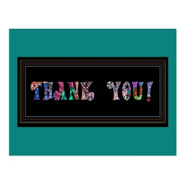 Colorful Bold Thank You!  Post Card