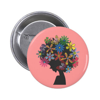 Colorful × BOMBER HEAD Pinback Button