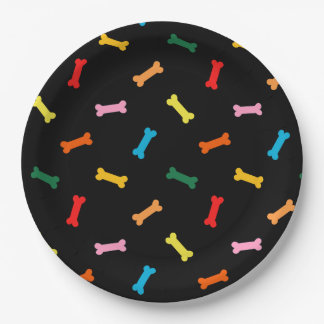 Colorful Bones Dog Biscuits Party Plates For Dogs