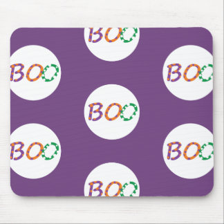 Colorful Boo for Halloween Mouse Pad