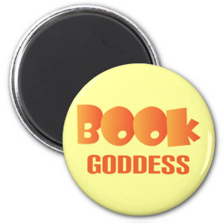 Colorful Book Goddess Reading Gift 2 Inch Round Magnet