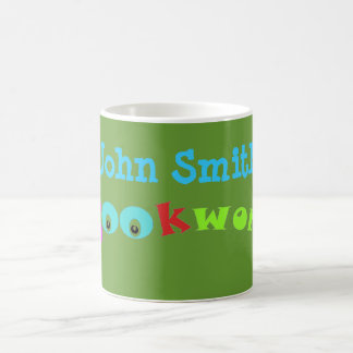 Colorful Book Worm Mug