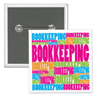 Colorful Bookkeeping Pinback Buttons