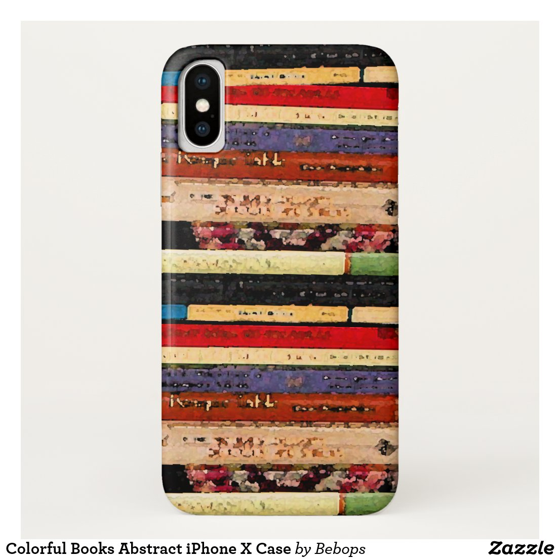 Colorful Books Abstract iPhone X Case