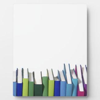 Colorful Books Plaque
