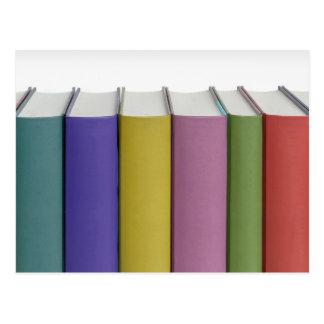 Colorful books postcard
