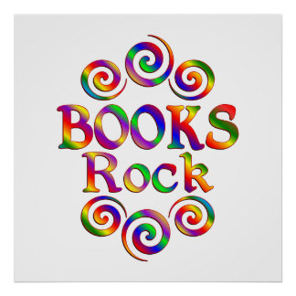 Colorful Books Rock Poster