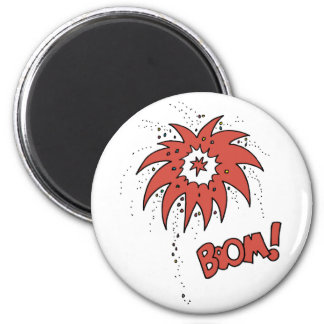 Colorful Boom! 2 Inch Round Magnet