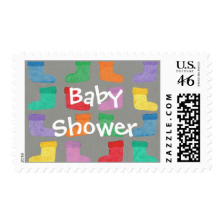 Colorful Booties, Baby Shower stamps for Him