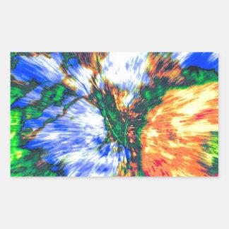 Colorful Boquet Rectangular Sticker