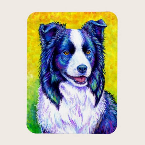 Colorful Border Collie Dog Flexible Magnet