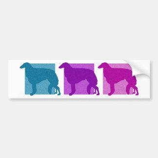 Colorful Borzoi Silhouettes Car Bumper Sticker