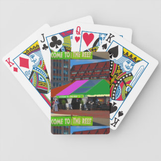 Colorful Boston City USA America Bus Tour views Bicycle Playing Cards