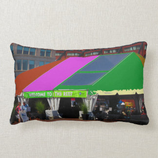 Colorful Boston City USA America Bus Tour views Lumbar Pillow