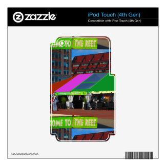 Colorful Boston City USA America Bus Tour views iPod Touch 4G Skin