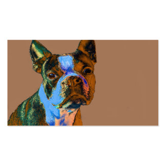 Colorful Boston Terrier Business Card