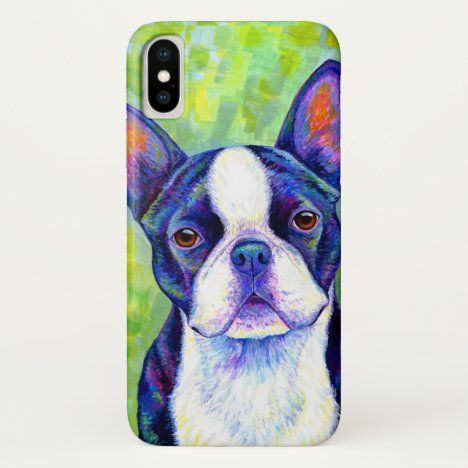 Colorful Boston Terrier Dog CaseMate Case