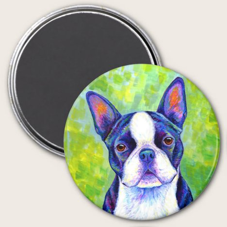 Colorful Boston Terrier Dog Magnet