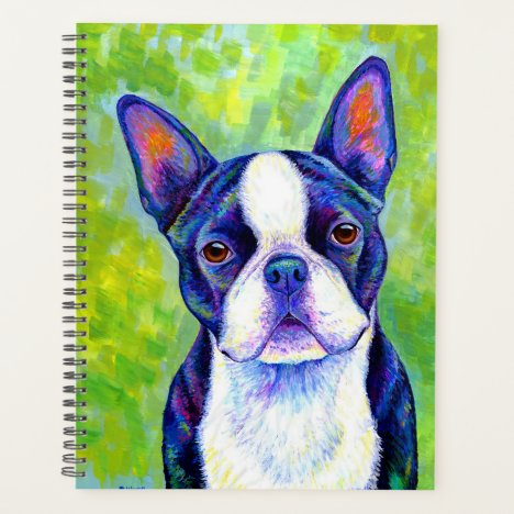 Colorful Boston Terrier Dog Planner