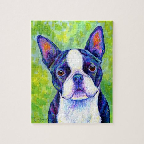 Colorful Boston Terrier Dog Puzzle