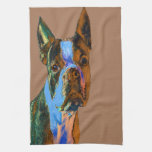 Colorful Boston Terrier Hand Towels