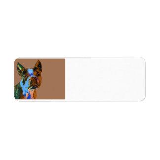 Colorful Boston Terrier Label
