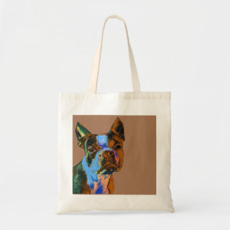 Colorful Boston Terrier Tote Bag