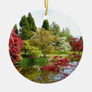 Colorful botanical garden park ceramic ornament