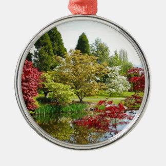Colorful botanical garden park metal ornament