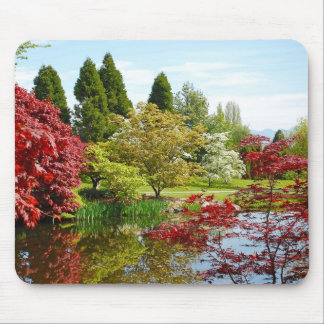 Colorful botanical garden park mouse pad