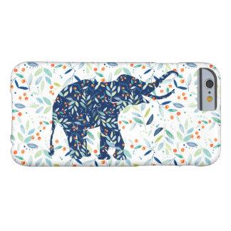Colorful Botanical LeafsCute Elephant Illustration Barely There iPhone 6 Case