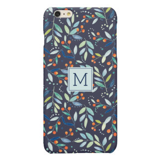Colorful Botanical Watercolors Illustration Glossy iPhone 6 Plus Case