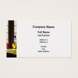 Colorful Bottles in Drug Store Window - Platinum Business Card