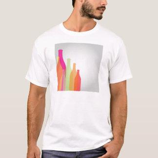 Colorful bottles on grey backdrop T-Shirt